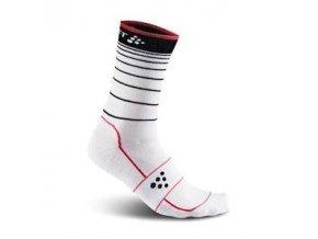 Ponožky CRAFT Gran Fondo 2-pack černá + bílá 34-36