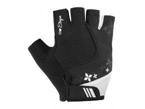 Etape – dámské rukavice AMBRA, černá|bílá