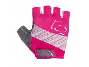 Etape – dětské rukavice SIMPLE, růžová|bílá