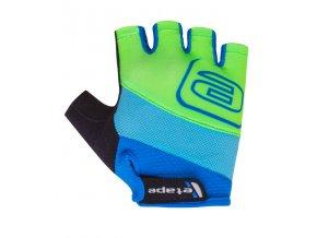 Etape – dětské rukavice SIMPLE, modrá|zelená