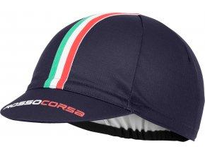 Castelli - funkční čepice Rosso Corsa, dark steel blue