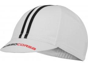 Castelli - funkční čepice Rosso Corsa, white/black