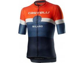 Castelli - pánský dres Milano, dark steel blue