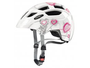 20 UVEX HELMA FINALE JUNIOR, HEART WHITE PINK (51-55)