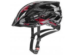 20 UVEX HELMA AIR WING, BLACK RED (52-57)