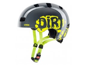 20 UVEX HELMA KID 3, DIRTBIKE GREY-LIME 55-58