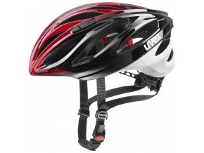 20 UVEX HELMA BOSS RACE, BLACK-RED 52-56