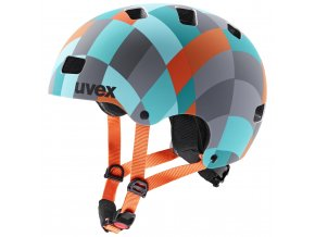 20 UVEX HELMA KID 3 CC, GREEN CHECKERED 51-55