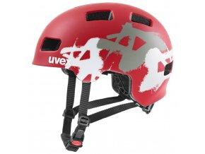 20 UVEX HELMA HLMT 4 CC, RED MAT GRAFFITI 55-58