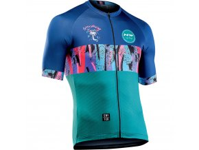 Cyklodres NORTHWAVE Fresh Jersey Short Sleeves, blue/azure
