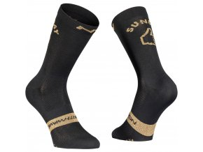 Cykloponožky NORTHWAVE Sunday Monday Sock Black/Gold