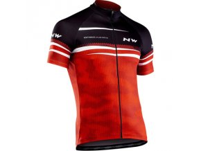 Cyklodres NORTHWAVE Origin Jersey Short Sleeves, red/blk/white