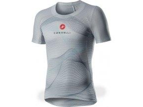Castelli - pánské funkční prádlo Pro Mesh SS, silver gray