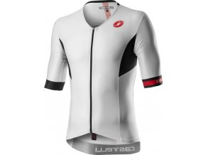 Castelli - pánský dres Free Speed 2 Race Top, white/black