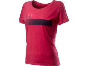 Castelli - dámské triko Logo, raspberry