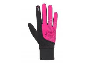 Etape - dámské rukavice Skin WS+, černá/růžová