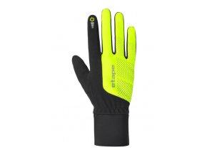 Etape - rukavice Skin WS+, černá/žlutá fluo