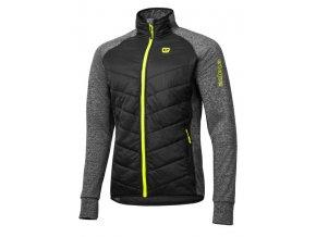 Etape – pánská bunda/mikina CRUX, černá/žlutá fluo