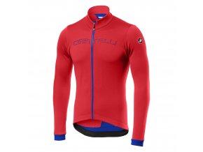 Castelli - pánský dres Fondo FZ, fiery red/blue