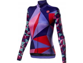 Castelli – dámský dres Triangolo, multicolor purple