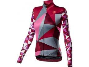 Castelli – dámský dres Triangolo, multicolor pink