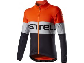 Castelli - pánská bunda Prolog, orange silver gray