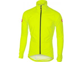 Castelli – pánská bunda Emergency Rain, yellow fluo