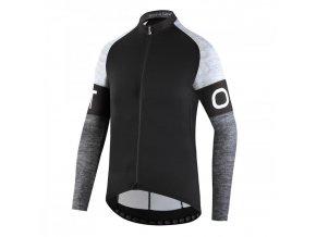 Cyklistický dres s dlouhým rukávem Dotout Block Long Sleeve Jersey - Black