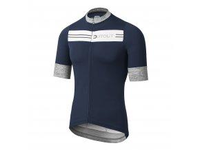 Cyklistický dres Dotout Stripe Jersey - Blue/White