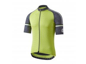 Cyklistický dres Dotout Fusion Jersey - Lime/Melange Dark Grey