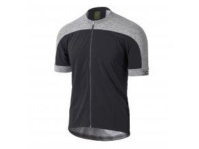 Cyklistický dres Dotout Freemont Jersey - Black/Melange Light Grey