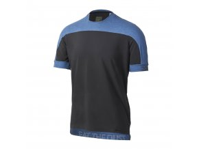 Cyklistický dres Dotout Cross T-Shirt - Black/Melange Blue