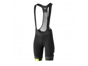 Cyklistické kalhoty Dotout Icon Bib Short - Black/Lime