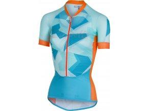 Castelli - dámský dres Climber´s, sky blue/orange fluo