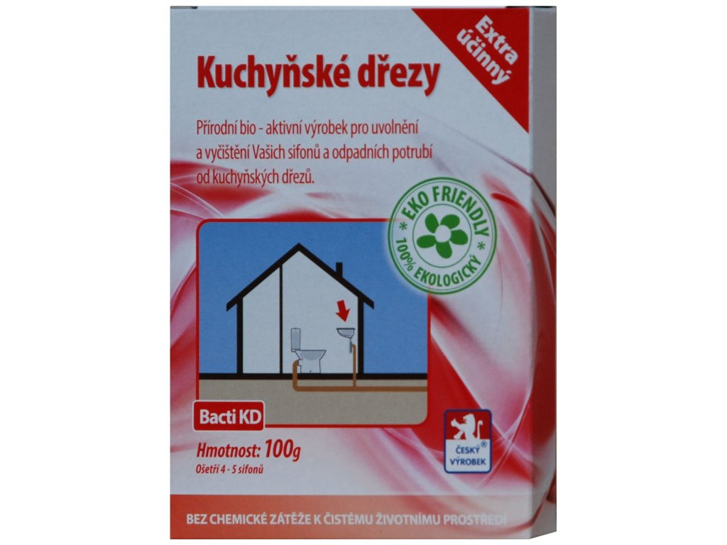 Bacti KD - Bakterie do dřezu - 100g