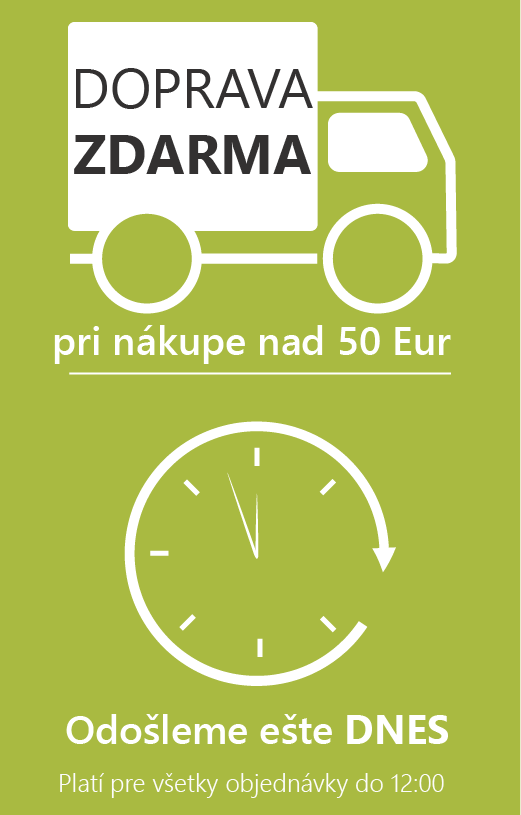 Doprava zdarma pre nákup nad 50 eur