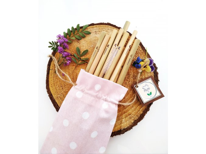Bambusová brčka 12ks