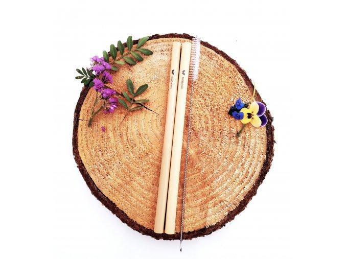 Bambusová brčka 2ks