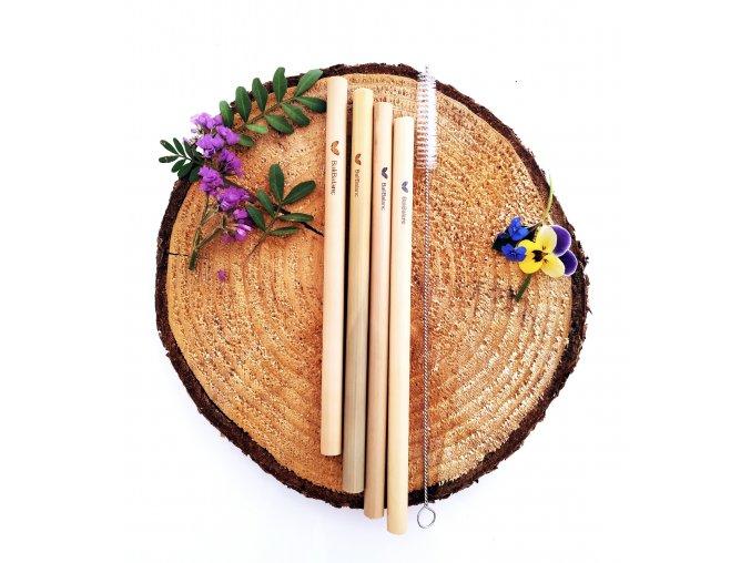 Bambusová brčka 4ks