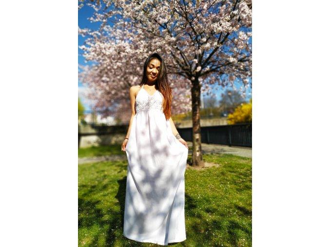 BOHO šaty WHITE GODDESS