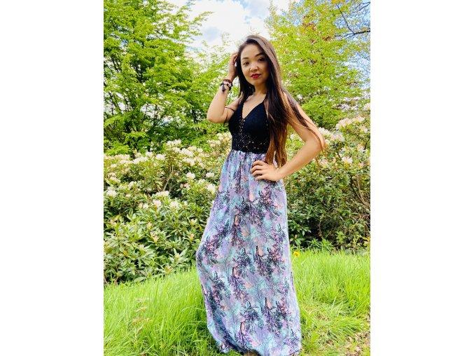 BOHO šaty RAINBOW FOREST