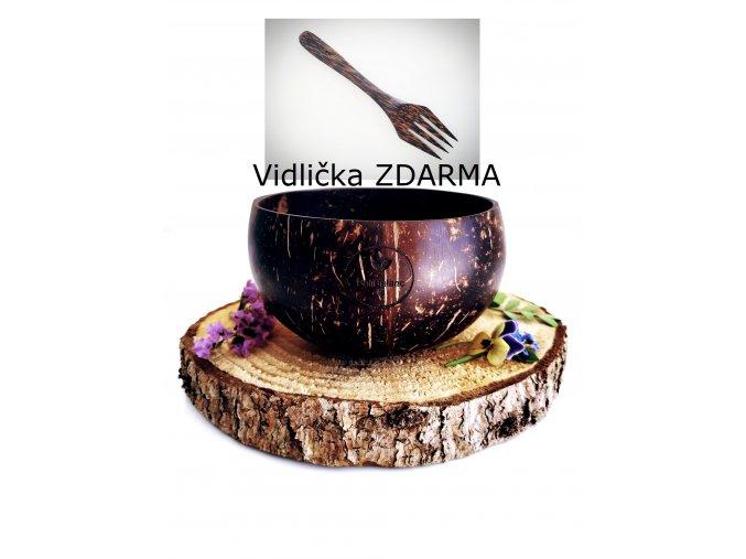 Kokosová miska NATURAL L + vidlička ZDARMA