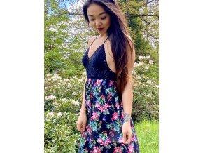 BOHO šaty FLOWER PRINCESS- VYPRODÁNO