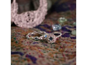 OVERFLOWING WITH JOY RING • RED GEMS G