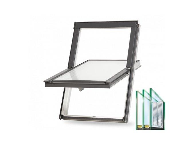 Plastové střešní okno BALIO trojsklo
