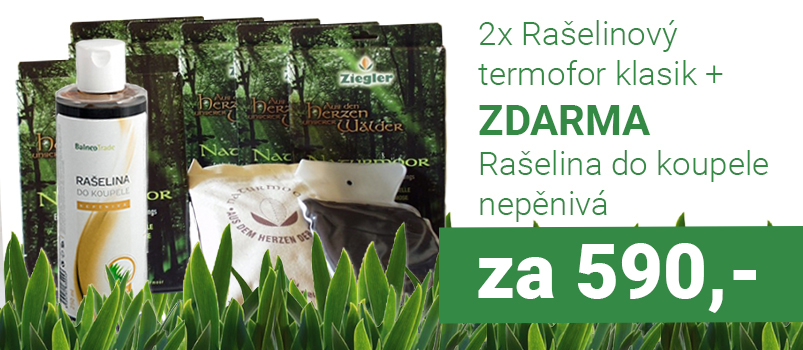 2x Rašelinový termofor + ZDARMA Rašelina do koupele Torf Ziegler