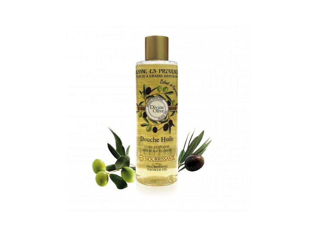 Výživný sprchový olej Oliva Jeanne en Provence, 250 ml