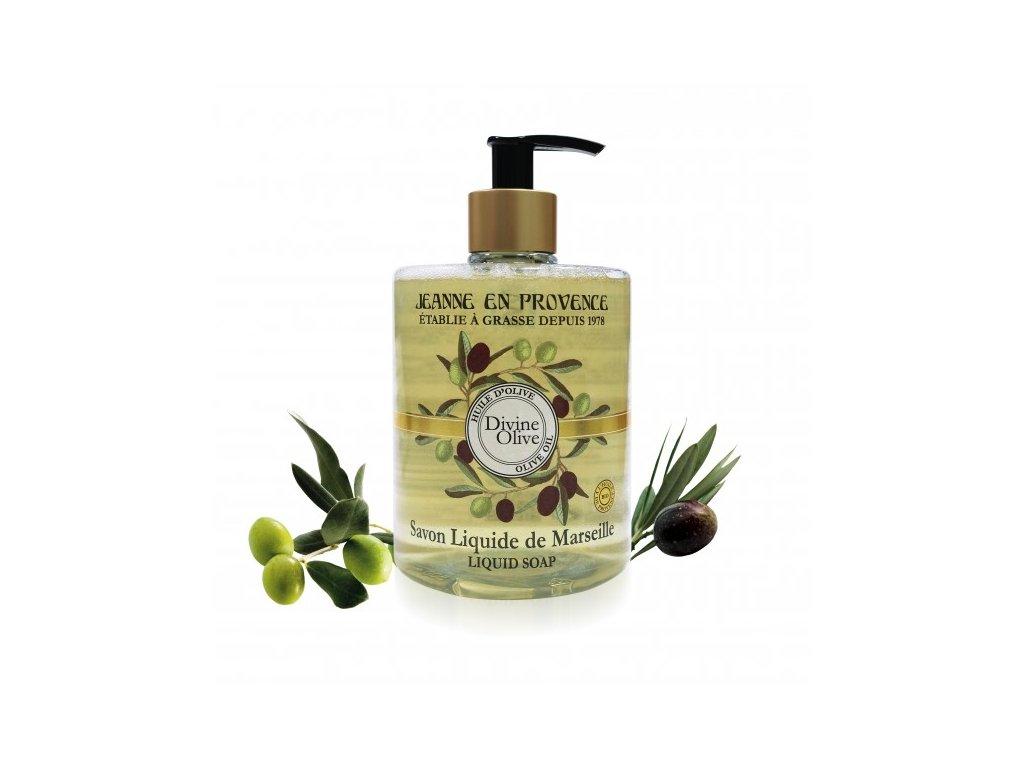 Tekuté hydratační mýdlo na ruce Oliva Jeanne en Provence, 500 ml