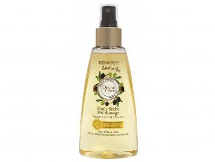 suchy olej na oblicej telo a vlasy oliva 150ml