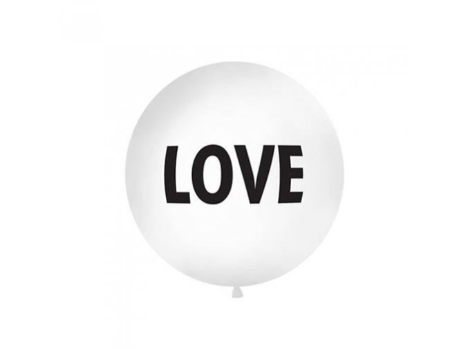 0004179 obri nafukovaci balon bily love 1 m 510